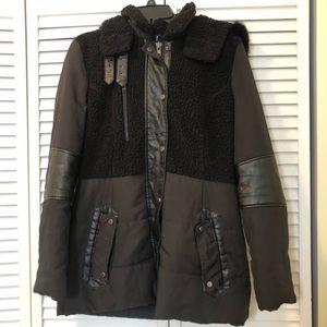 Walter Baker W118 mixed media coat